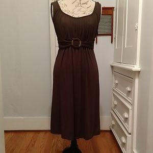 Max Studio brown knit dress Sz L